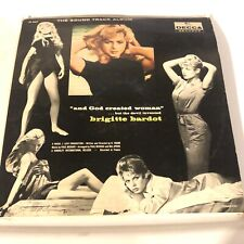 Brigitte Bardot Rare Pink Label Promo Soundtrack LP And God Created Woman