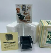 *New* Raine Take A Seat c.1928 Chrome & Leather Chair - Miniature Dollhouse Rare