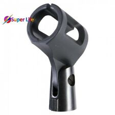 """Wireless Microphone Clip Mic Holder Clamp Rubber Mount Straight Style 5/8"""" Stage"""