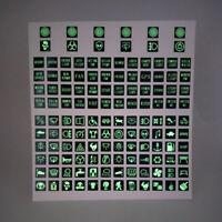 Rocker Switch Label Decal Circuit Panel Sticker Car Truck Boat Marine Instrument