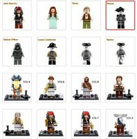 Pirates of the Caribbean Character Figures Legoed Building Blocks Toys Pieces