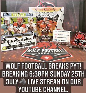 Carolina Panthers Spot In WolfFootballBreaks PYT. 2021 Prizm Draft Hobby 5 Autos