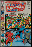 Justice League of America #82 VF-  Neal Adams Cover Art 1970 Vintage Nice Copy