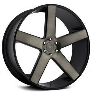 "4ea 22"" Dub Wheels Baller S116 Black with Machined Face / Dark Tint Rims(S45)"