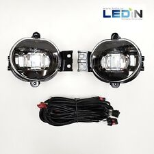 LED Fog Lights For Dodge 02-08 RAM 04-06 Durango Pair Black Housing Wire Harness