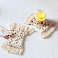 Boho Makramee Untersetzer Handarbeit Weben Cotton Tischset Deckchen Table Dekor