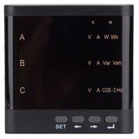 ZM194-D93 LED Digital 3-Phase Voltage Current Power Meter 91*91mm