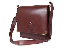 Authentic CARTIER Cartier Must De Vintage Bordeaux Shoulder Bag CS14809L