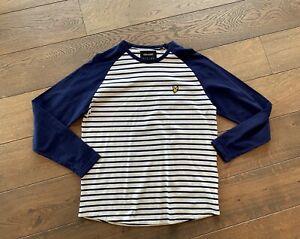 Schönes Herren T-Shirt von LYLE & SCOTT - XL - Longsleeve - Navy - Streifen
