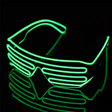 Shutter Shades Sound Activated LED Flashing Clubbing Glasses for Costume Party
