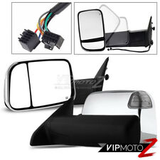 2009-2012 Ram Chrome Power Heated Towing Mirrors Signal Puddle Lamp Left Right