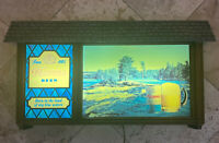 Vintage Hamm's Beer Lighted Sign River Lake Scene