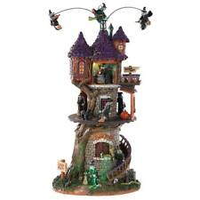 Lemax Spooky Town Halloween Animated Witches Tower sights Sounds Lighted