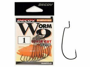 Decoy Worm 9 Upper Cut Hook #1 - #6 Black Nickel Soft baits accesories