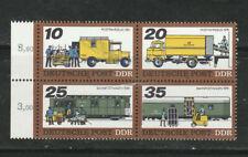 1978 DDR, Postal Transportation block of 4, MNH