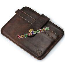 Para Hombre Cuero Money Clip Slim Wallet Id Credit Card Holder Funda