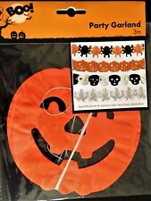 PUMPKIN HALLOWEEN PARTY GARLAND - Essential Party Accessory - Same Day Despatch