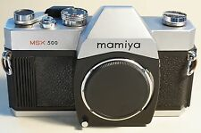 M42 mamiya MSX 500 chrom, topp Funktion, neue DICHTUNGEN / SPIEGELANSCHLAG