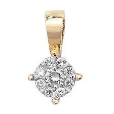 Yellow Gold Round I2 Fine Diamond Necklaces & Pendants