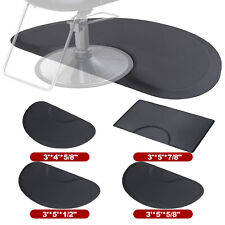 Black Barber Shop Chair Floor Mat Anti-Fatigue Salon Beauty Rectangle/Semicircle