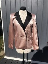 MISSGUIDED rose And Black Satin Suit Jacket. Blazer. Tuxedo. BNWT. SIZE 8.