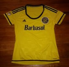 Major League Soccer Adidas Columbus Crew Authentic adult size Large jersey NICE!