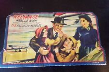 """Vintage """"Reliance Sewing Needle Book""""-Nickel Plated/Rust Proof/Assorted"""