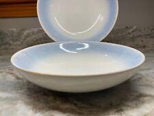 New listing Large Pasta Bowls. Blue Rim Reactive Glaze. Martha Stewart. Stoneware. New.