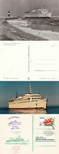 German Ferry Ms Warnemunde Ships Cached Card Unused Postcard & Picture