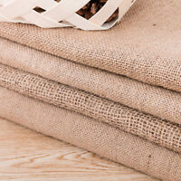 Natural Yellow Linen Quality Upholstery Hessian Fabric Crafts DIY Making Acces