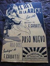 Partitura El Rey de la Arena F Paso de Gabutti Nuevo