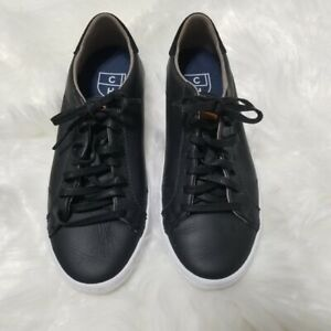 COLE HAAN Black Boy's Lace Up Leather Casual Sneaker Shoe Size 5B
