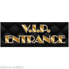 56cm Hollywood VIP ENTRANCE Party Awards Night PVC Sign Banner Decoration