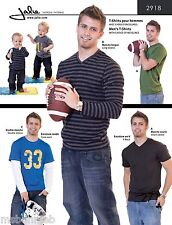 Jalie Men's & Boys' T-Shirts w/Crew or V-Neck Sewing Pattern 2918 in 27 Sizes