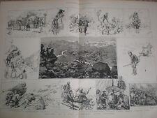 Hunting for Reindeer in Norway 1885 old prints