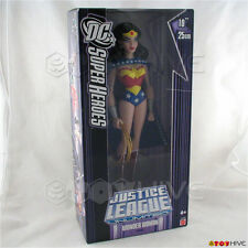 Justice League Unlimited Wonder Woman cape 10 inch vinyl figure WORN purple box