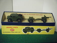 "Dinky No: 697 ""25-Pounder Field Gun Gift Set"" - (U.S. Labelled)"