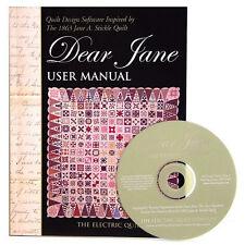 DEAR JANE Stickle Design Software NEW Electric Quilt Civil War Print Patterns