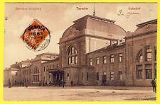cpa POLSKA POLAND POLOGNE TARNOW Dworzec Kolejowy BAHNHOF GARE STATION RAILWAY