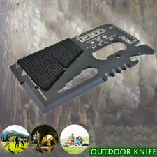 838F 2017 16-in-1 Multi Function Credit Card Knife Wallet Survival EDC Tools
