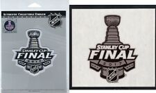 2017 STANLEY CUP FINAL PATCH PENGUINS PREDATORS WITH NHL STICKER SET OF TWO (2)