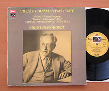 SAN 354 Holst Choral Symphony Sir Adrian Boult 1974 Angel Stereo NM/EX + insert