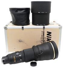Nikon AF-S Nikkor 600mm F4 D ED Lens. CPL Filter, HK-23-1/2 Hood, Hood Cap. Case