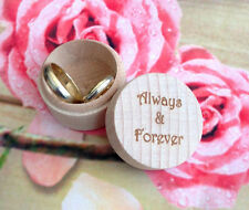 Personalised Wedding Rings Box Valentines Gift Bride Groom Gift Big Day Initials