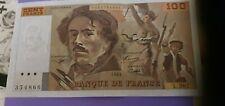 France billet 100 francs 1995 type Delacroix