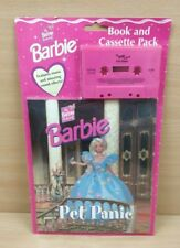 Vintage Barbie Book and Cassette 'Pet Panic' New and Sealed RARE 1997 Mattel