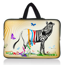 "100 Designs Sleeve Case Carry Bag +Hide Handle for 15"" 15.4"" 15.5"" 15.6"" Laptop"
