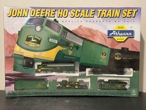 Athearn John Deere HO Scale Train Set With 2 Die Cast Tractors 1st in Series NIB