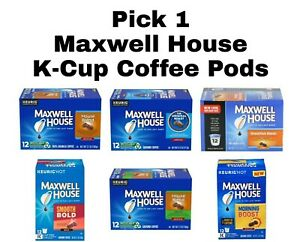 Pick 1 Maxwell House K-Cup Keurig Coffee Pods Box