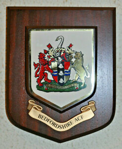 Bedfordshire Army Cadet Force regimental mess wall plaque crest shield ACF